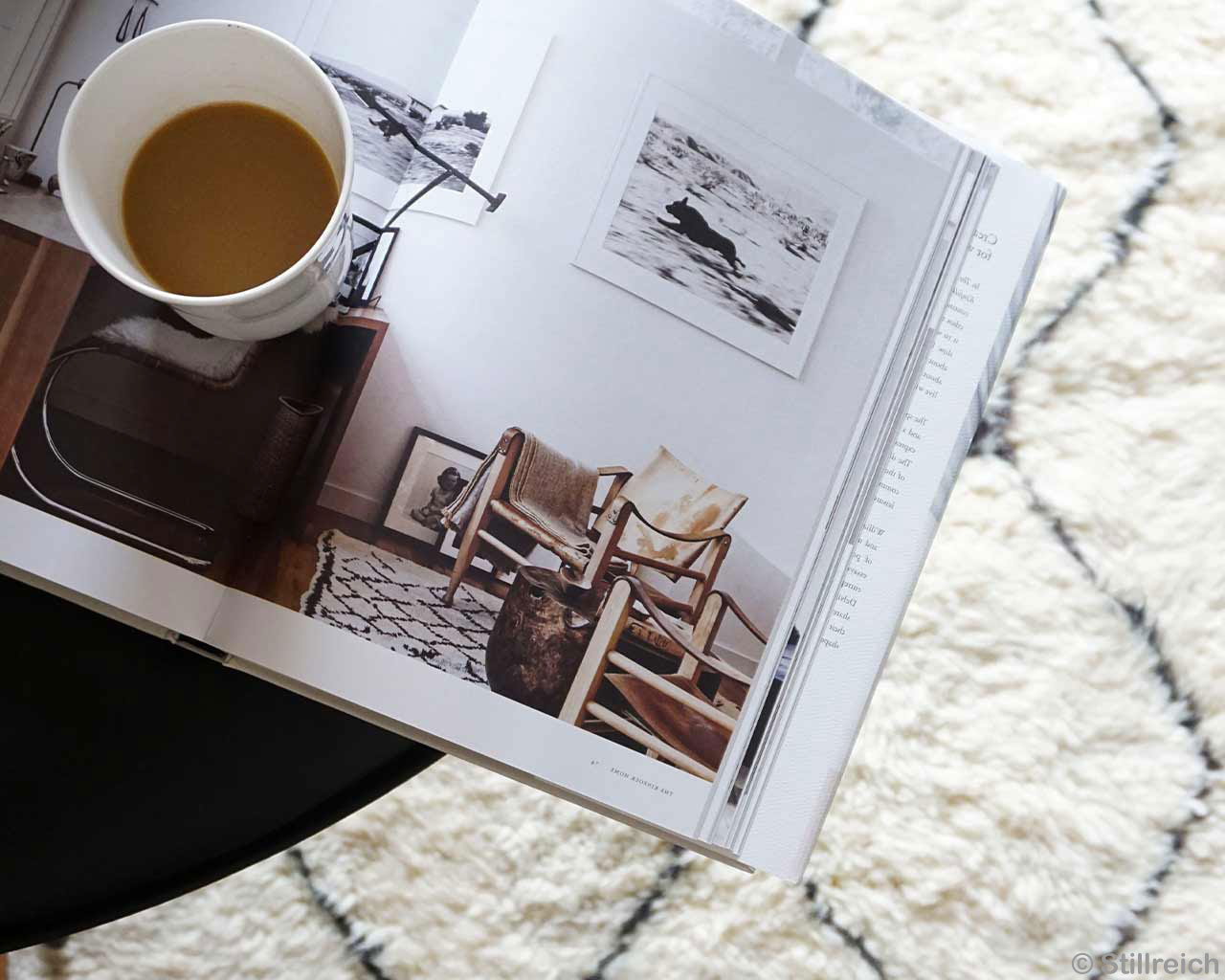 Coffee Interior Design Magazine White Beni Ourain Carpet 2