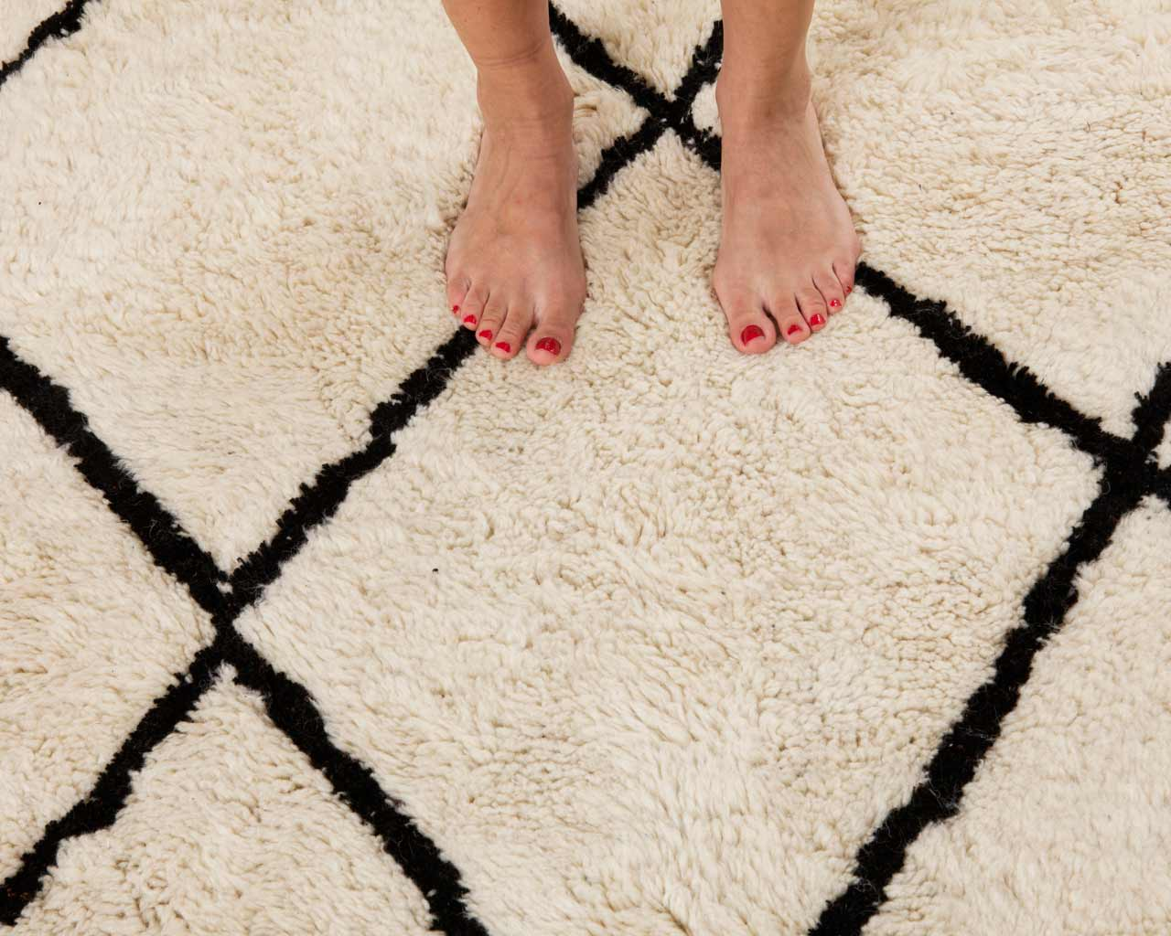 beautiful feet beni ourain rug