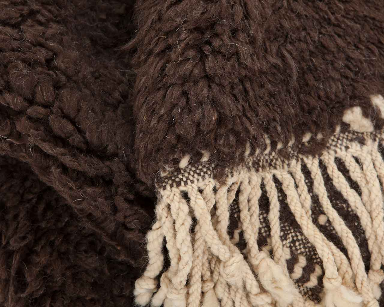 brown sheep wool high pile carpets 1