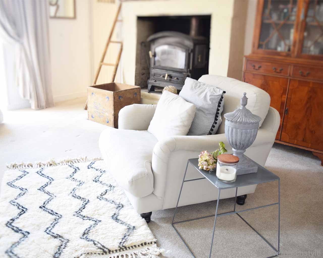 woolen box cabinet and gray side table from morocco designer fluffy rugs