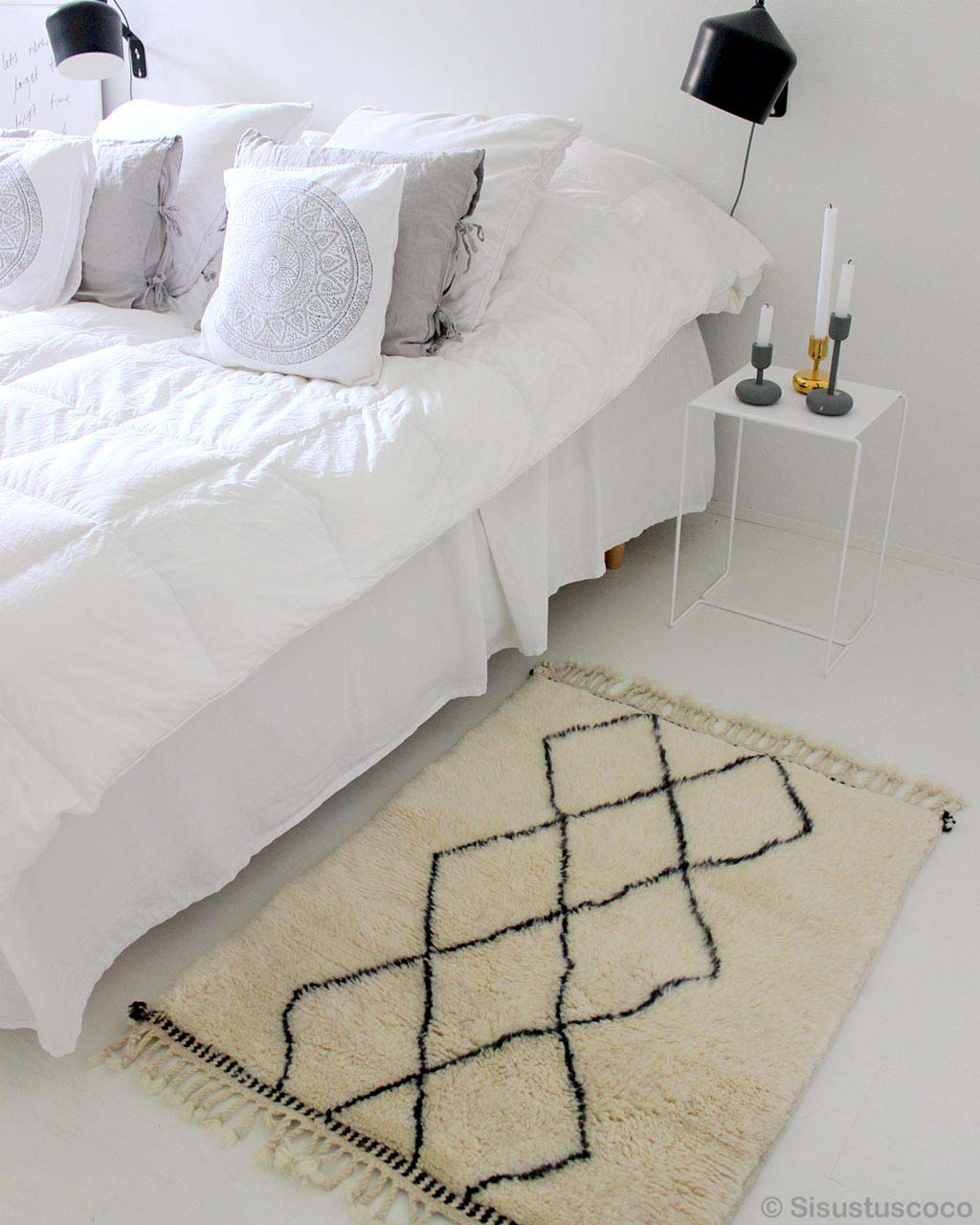 woolen cable stands and bed made by moroccan traditional cheap area rugs