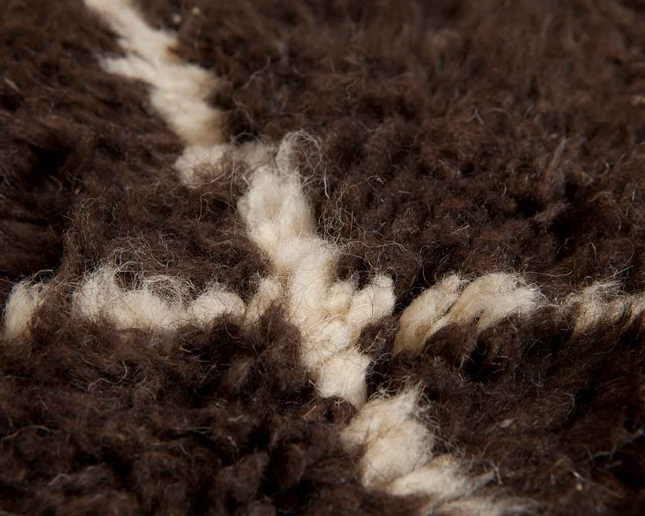 high pile wool brown sheep wool moroccan 1