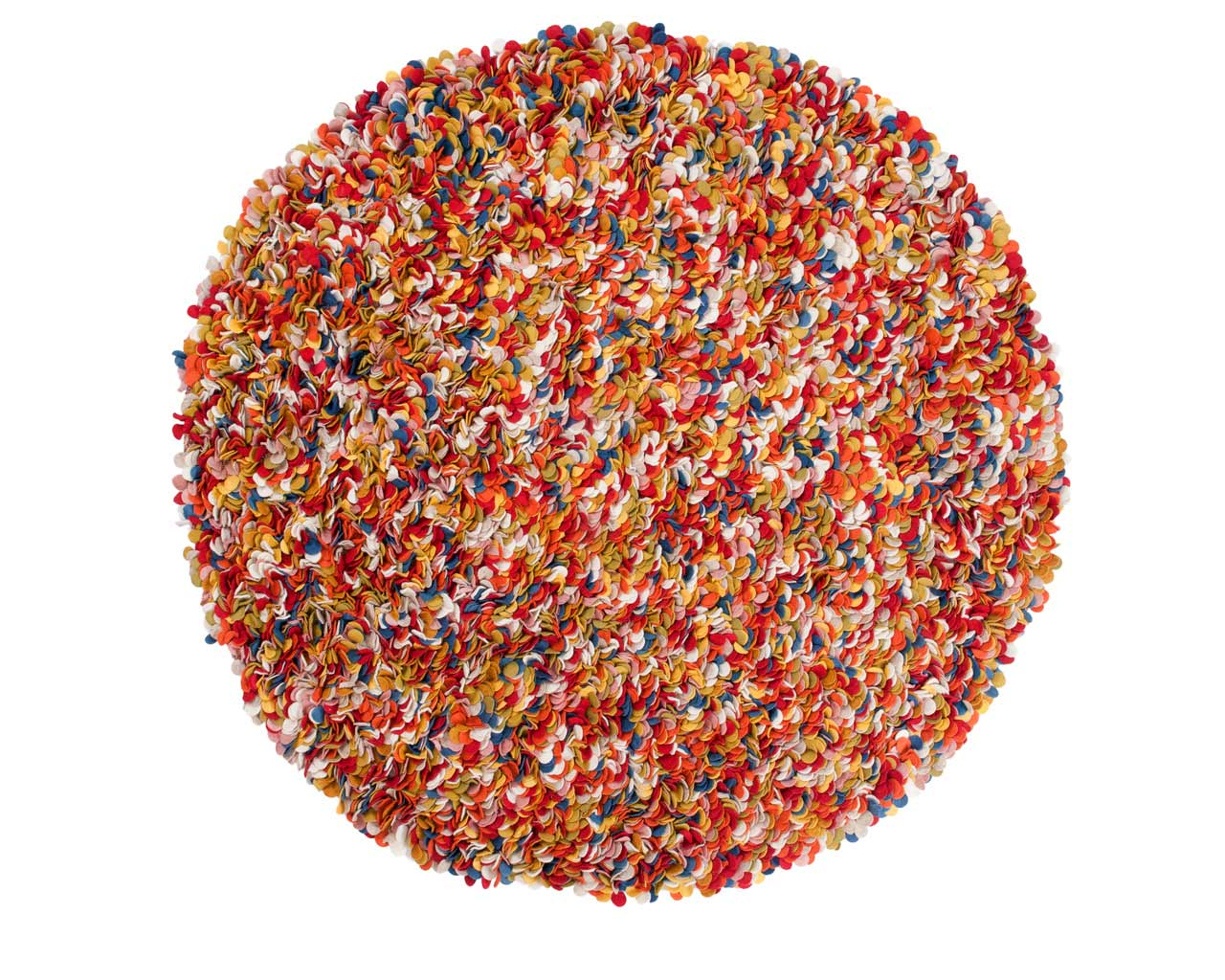 round designer carpet handmade multi colour