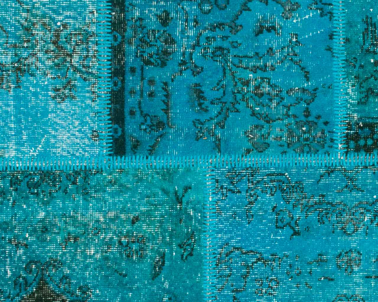 turquoise patchwork rugs customizable