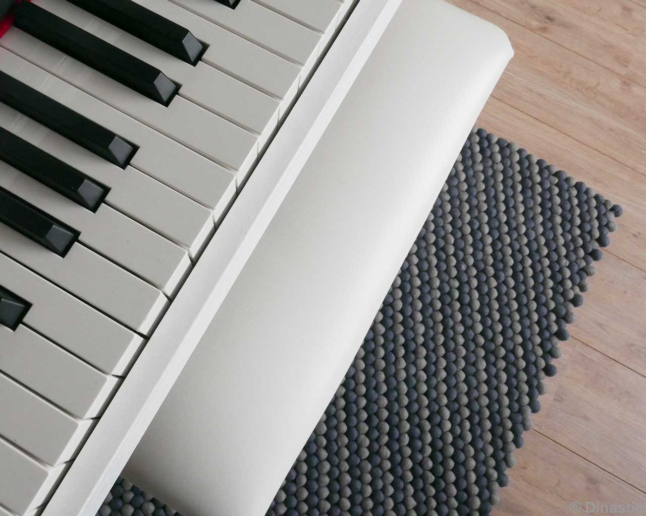 rectangle felt rug piano