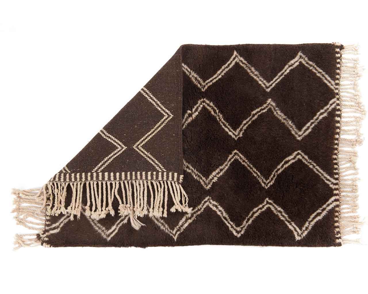 stylish pattern moroccan carpet brown 1