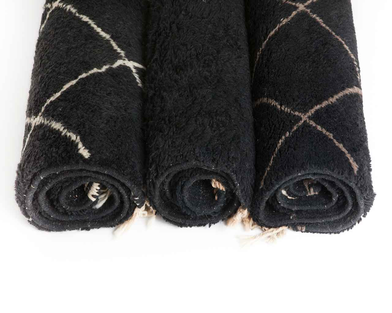 three black beni ourain carpets designers 2