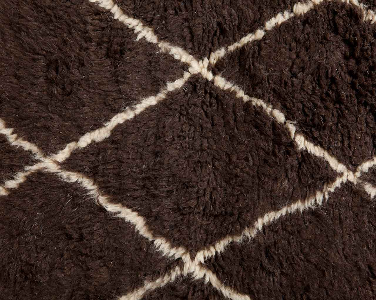 white diamond pattern brown wool carpet 1